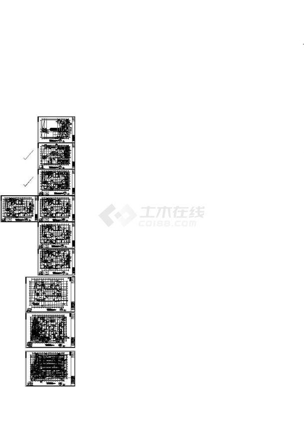 [江苏]某地高层商业楼舒适性中央空调系统设计施工cad图-图一