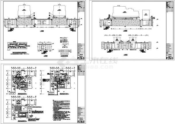 某柴油发电机房设计cad全套工艺施工图纸(含设计说明)-图一