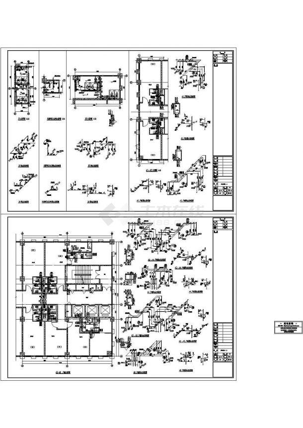 某超高层综合楼给排水消防全套施工设计cad图,共七张-图一