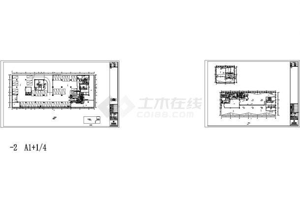 某超高层综合楼给排水消防全套施工设计cad图,共七张-图二