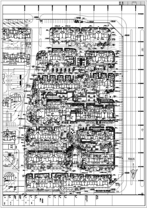 小区规划平面图植物配置-图一