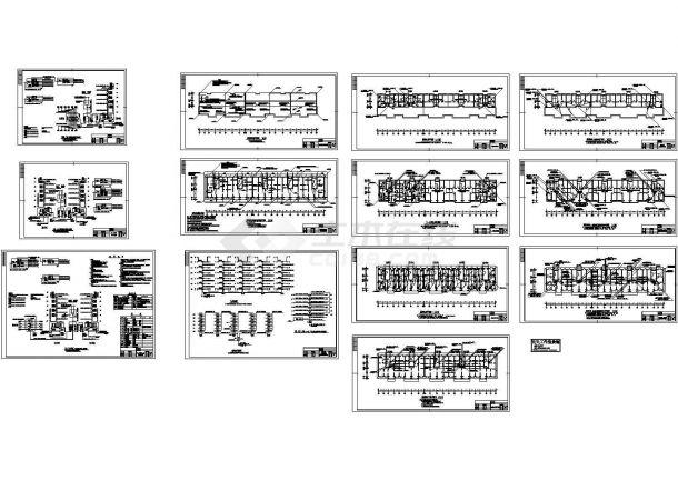 七层住宅楼电气施工cad图(含阁楼电照平面图)-图二