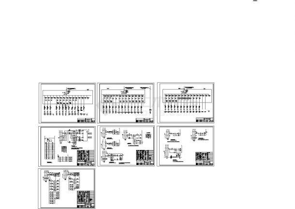 某公建电气控制原理图cad施工图设计-图一