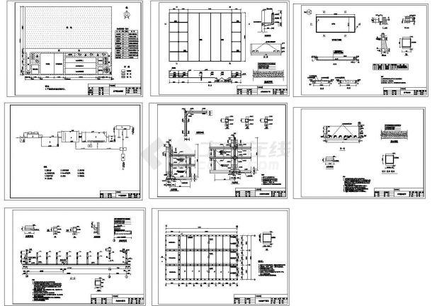 某造纸厂污水处理设计图纸cad施工图设计-图一