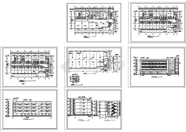 某四层中型宾馆建筑设计方案图-图一