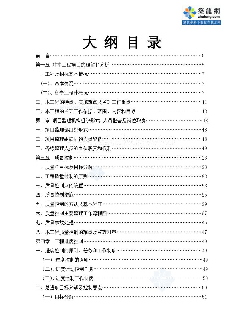[江苏]教学楼拆建工程监理大纲(200页 附流程图)ser_secret.-图一