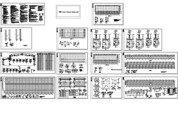 91.5x30m 24m跨单层门式刚架钢结构厂房结施CAD图纸(含设计说明)-图一