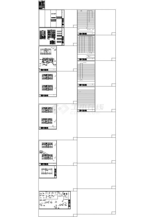 某小区高层住宅给排水施工cad图(17#楼)-图一