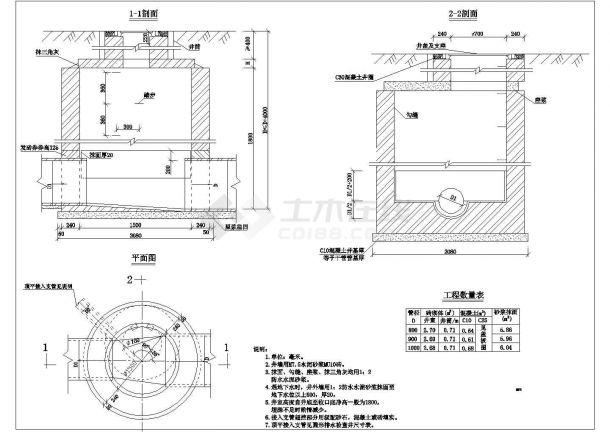 砖砌检查井平面图-图一