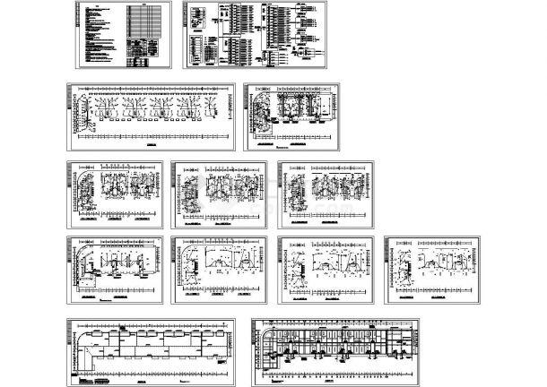 七层商住楼全套电气图纸(CAD,12张图纸)-图一