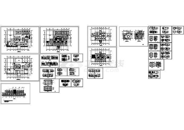 某地松岭居餐馆全套装修设计CAD图纸(含设计说明,平面布置图)-图一