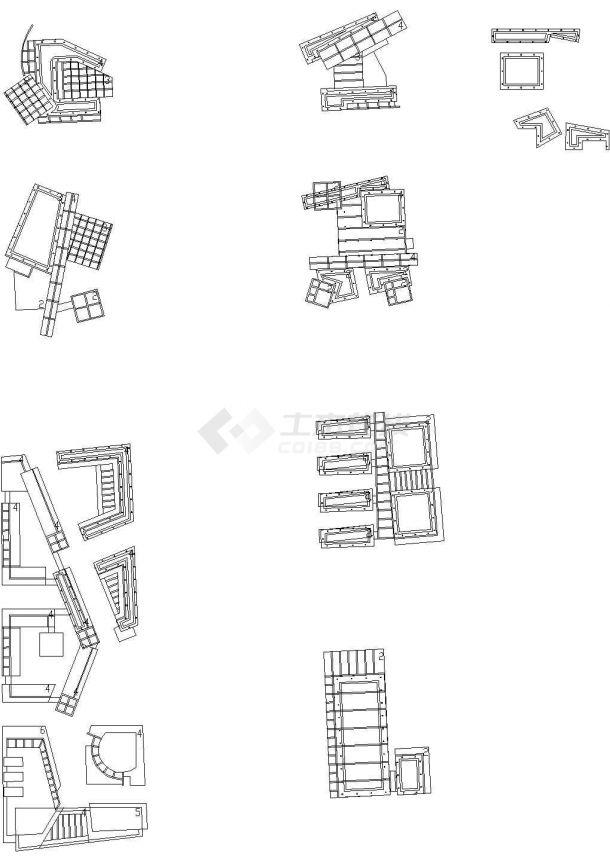 某地区行政中心(多层砖混结构综合办公大楼)设计cad全套建筑施工图(含设计说明,含效果图,含广电局、公安局等设计)-图一