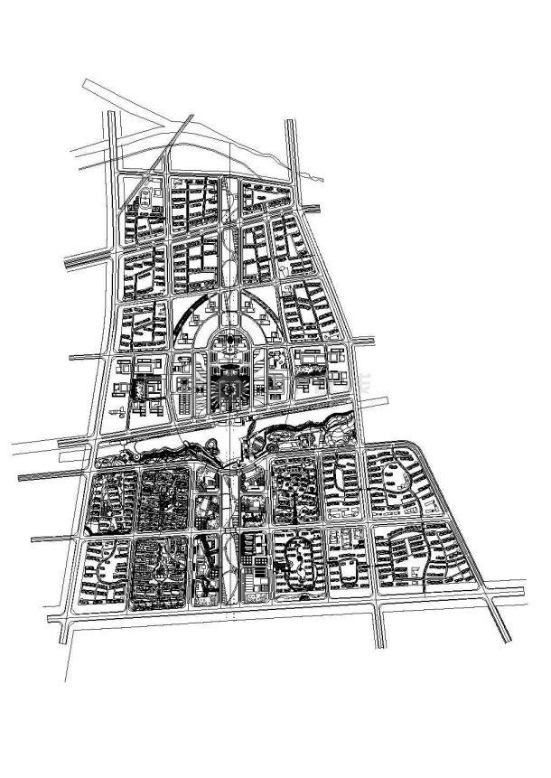 某地区行政中心(多层砖混结构综合办公大楼)设计cad全套建筑施工图(含设计说明,含效果图,含广电局、公安局等设计)-图二