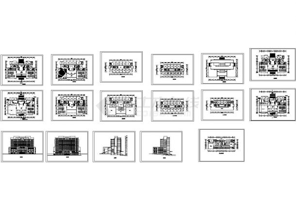 全套某高校综合楼建筑设计方案图-图二