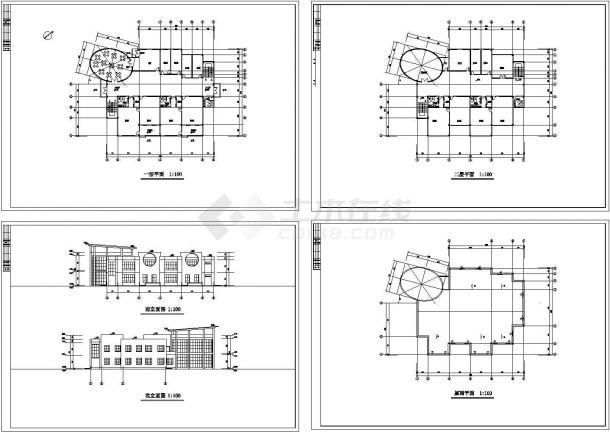 某二层幼儿园建筑设计方案图-图一