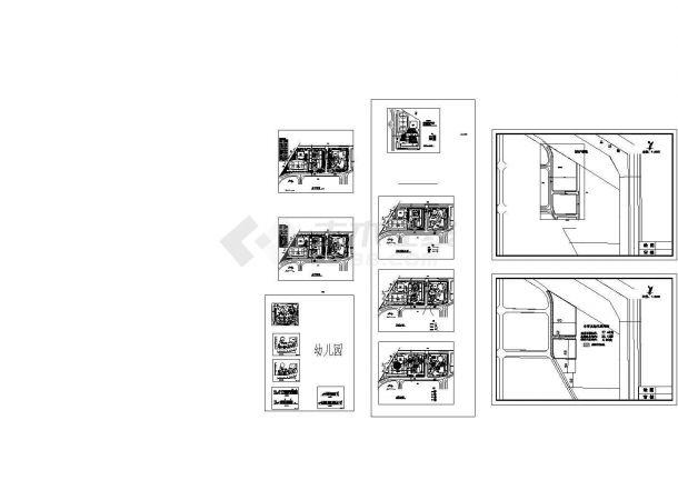 某三层幼儿园建筑设计方案图-图二