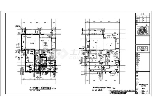 某22万平豪华住宅群给排水全套竣工图(雨水收集回用 干粉灭火)-图二