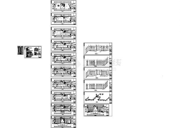 某地消防中心办公楼采暖通风及防排烟系统设计施工图(散热器采暖)-图一