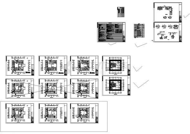[江西]某地多层综合楼公共建筑空调通风及防排烟系统设计施工图-图一