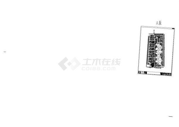 [湖北]某地高层商业办公综合楼暖通空调全系统设计施工cad图(冷热源设计)-图一