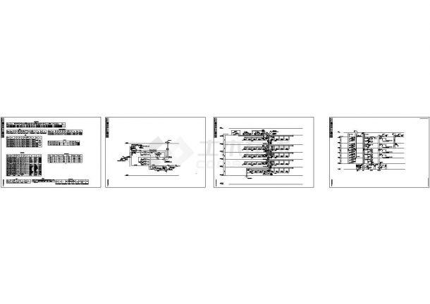 [河北]办公科研综合楼空调通风及防排烟系统设计施工cad图(含采暖设计)-图一
