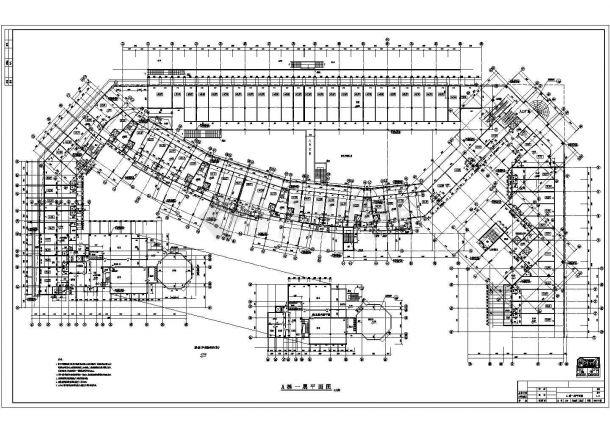 某商业步行街建筑设计方案图 包含着A 栋一层平面图-图一
