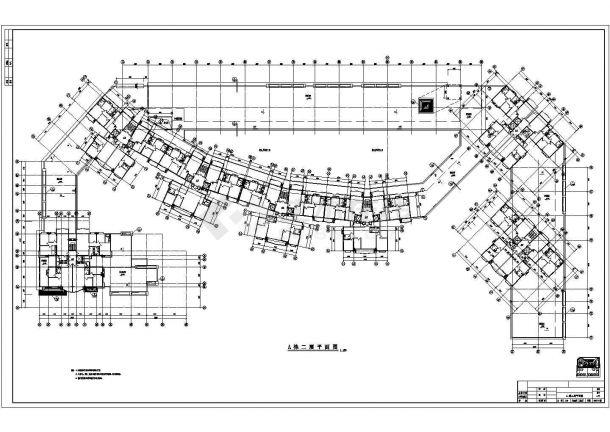 某商业步行街建筑设计方案图 包含着A 栋一层平面图-图二