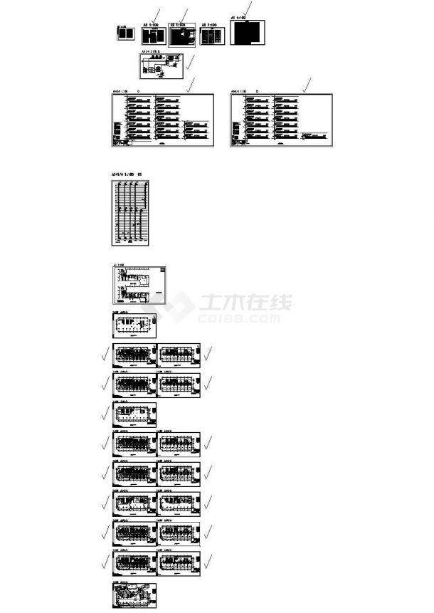 [广东]某地超高层办公楼空调通风及防排烟系统设计施工cad图-图一