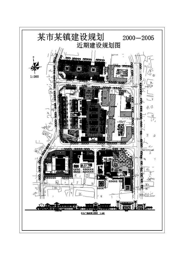 某镇建设规划图cad版-图二