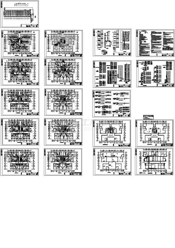 某十七层住宅楼全套电气施工cad图(含弱电设计)-图二