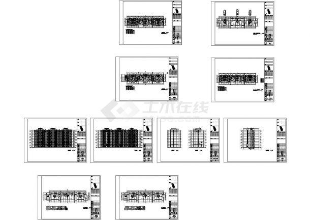 [江苏]11层现代风格联排住宅楼建筑设计方案图CAD-图一