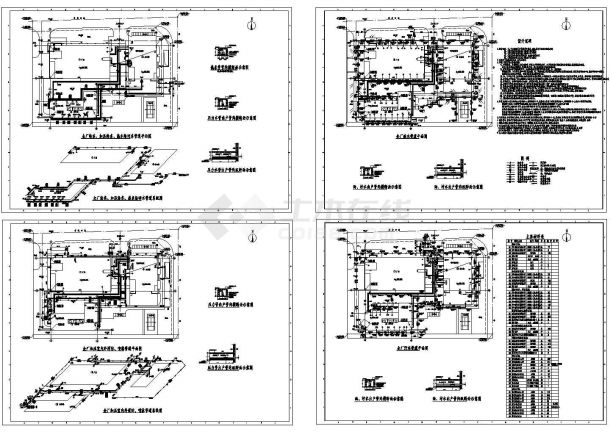厂区室外给排水管网系统施工图cad-图一