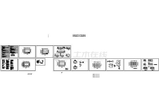 单层轻型钢结构简易房建筑结构设计CAD图-图一
