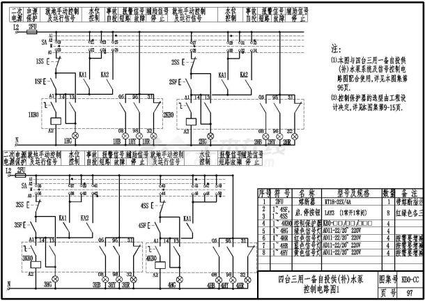 经典KBO-cc(控制与保护开关)设计cad全套电气控制原理图图集(含编制说明,104个CAD文件)-图二