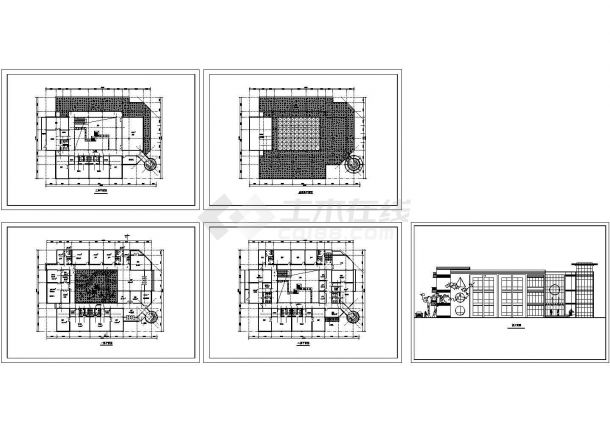 长46.7米 宽34.4米 3层幼儿园+社区服务中心建筑方案设计图纸-图一