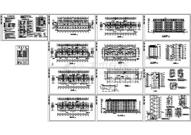 某6层住宅楼建筑设计CAD图纸(含半地下室设计)-图一