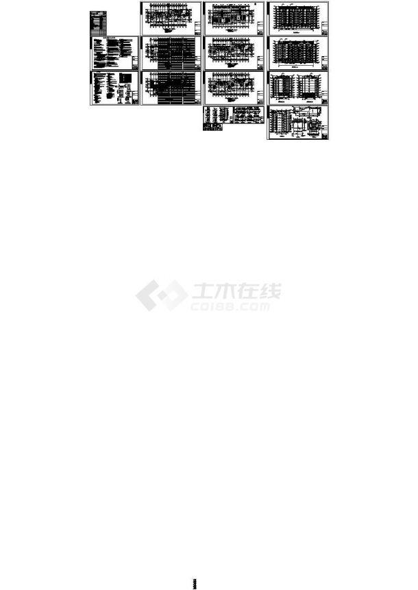 4107.7平米七层阁楼二单元对称户型设计施工图-图一