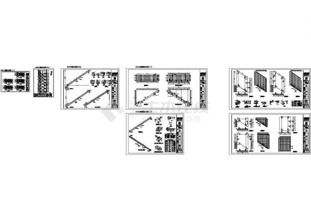 预制装配式外墙及楼梯设计cad施工图纸-图一