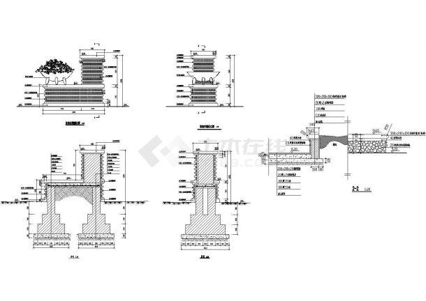 常用园林景观施工图Cad设计图(某甲级院设计,标注详细)-图一