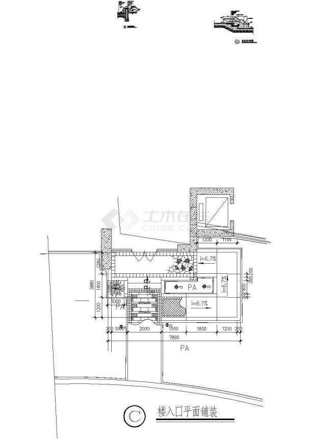 常用园林景观施 工图7平台栈道-图一