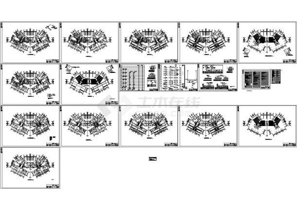 某小区十九层住宅楼电气施工cad图,共十七张-图一