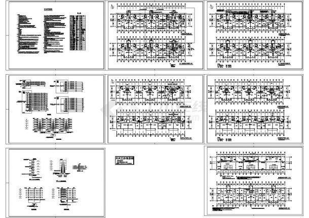 4093平方米六层半住宅楼电气系统设计施工cad图,共八张-图一