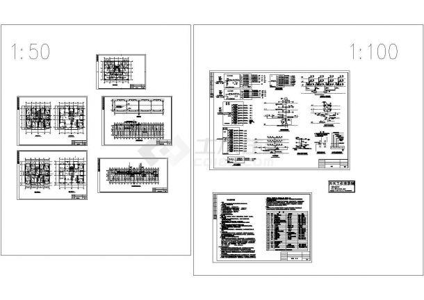 古冶区林西村平改楼照明系统设计施工cad图,共七张-图一