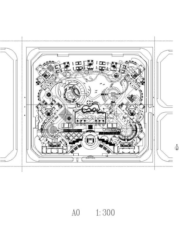 深圳某地星河·国际全套景观设计施工cad图(含平面布置图)-图一