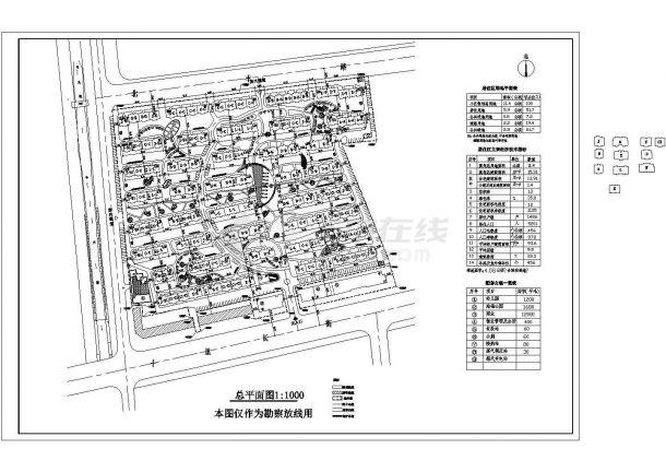多层小区总用地11.4公顷规划总平面图-图一