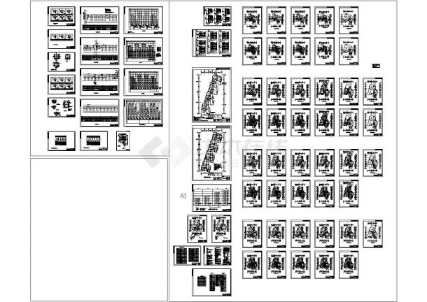 某单元多层住宅楼电气设计图(二类住宅,三级负荷)包含电缆穿管敷设壕沟图-图一