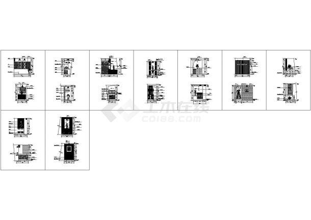 室内设计常用图块之隔断图纸-图一