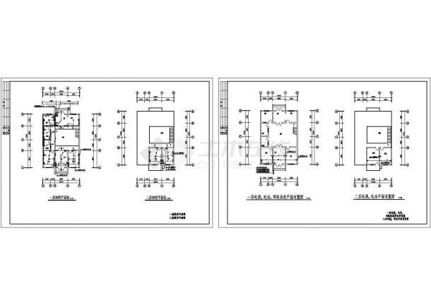 某二层住宅楼电气施工cad图,共四张-图一