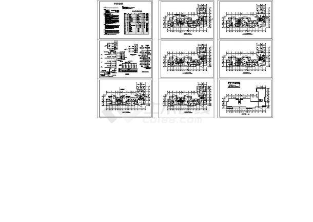 3355平方米五层职工住宅楼电气施工cad图(含弱电设计)-图二