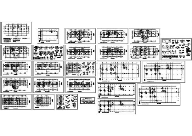 某检察院多层框架结构办公楼设计cad全套结构施工图(甲级院设计,25张图)-图一